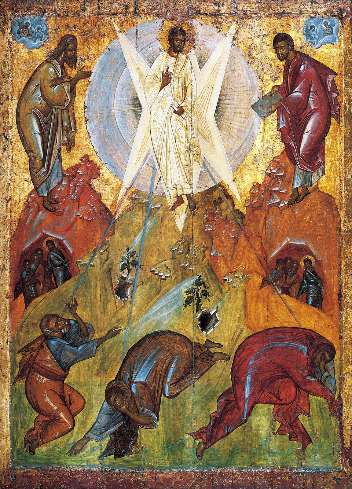 In the Orthodox Church the Transfiguration is the basis for: □ the theology  of icons; □ the theology of the nature of the material world;
